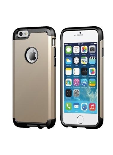 Microsonic Slim Fit Dual Layer Armor iPhone  6 (4.7) Kılıf Sarı Renkli
